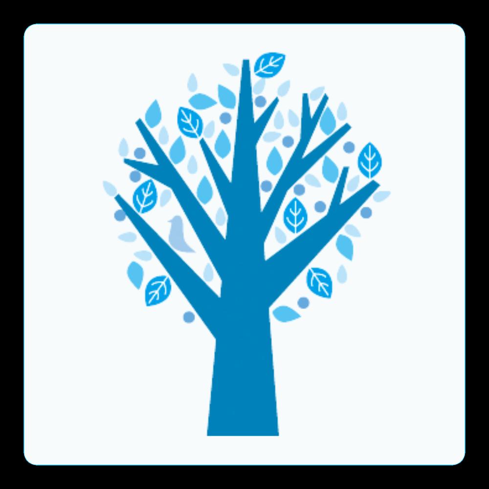 冬カラーツリー アクリルコースター(四角)