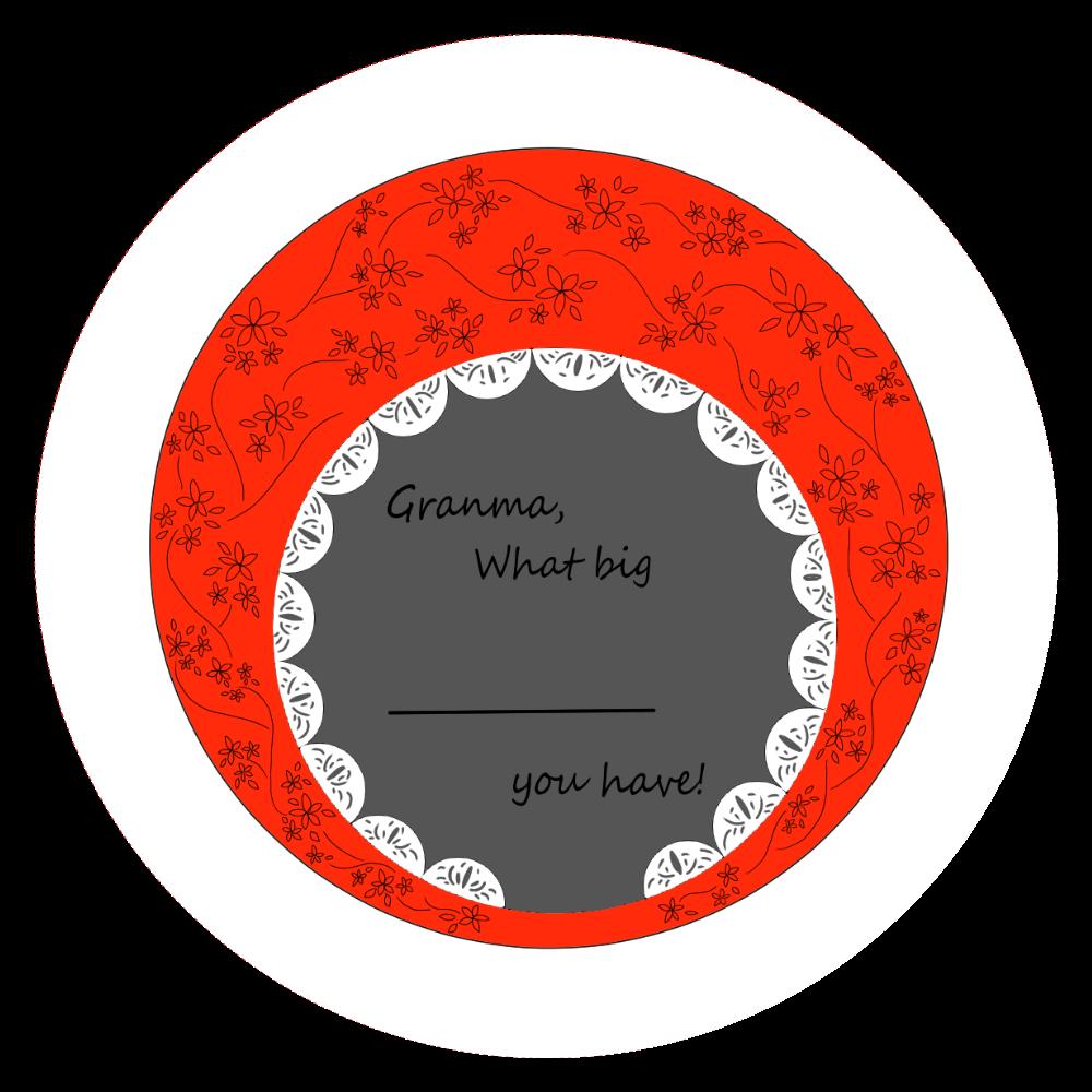 缶バッジ red 44mm  44㎜缶バッジ