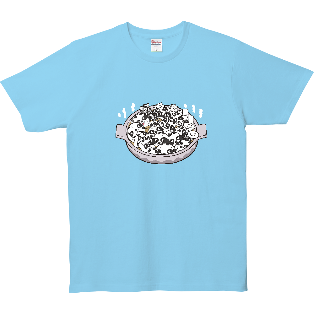 パンダTシャツシリーズ、おでんパンダ 5.0オンス ベーシックTシャツ(キッズ)