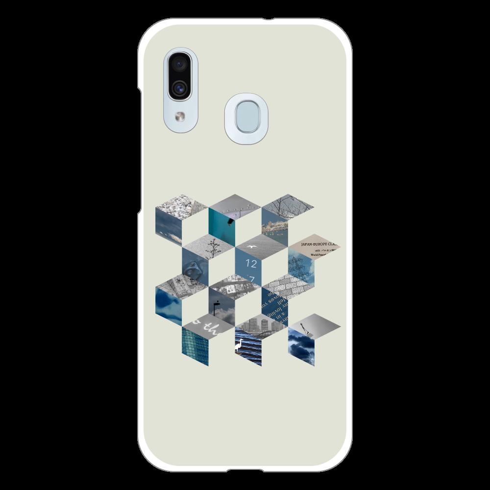 「キューブ コラージュ」スマホケース Galaxy A30 (SCV43) ハードケース
