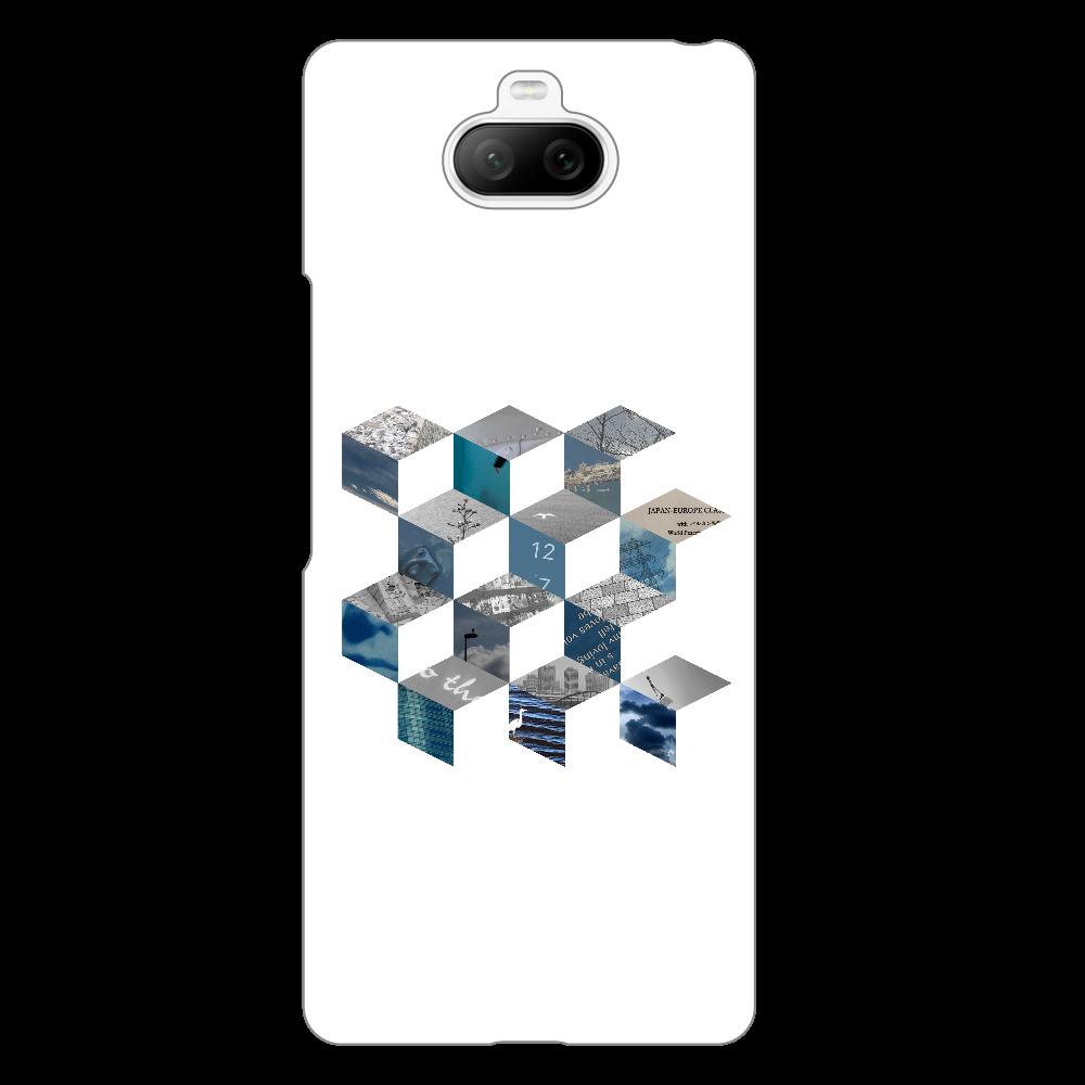 「キューブ コラージュ」スマホケース Xperia 8 ハードクリアケース