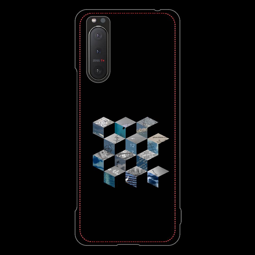 「キューブ コラージュ」スマホケース Xperia 5 II ハードケース