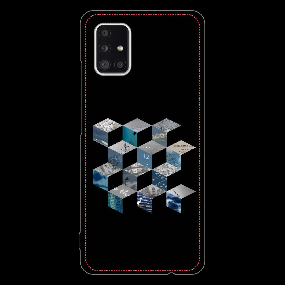 「キューブ コラージュ」スマホケース Galaxy A51 5G ハードケース
