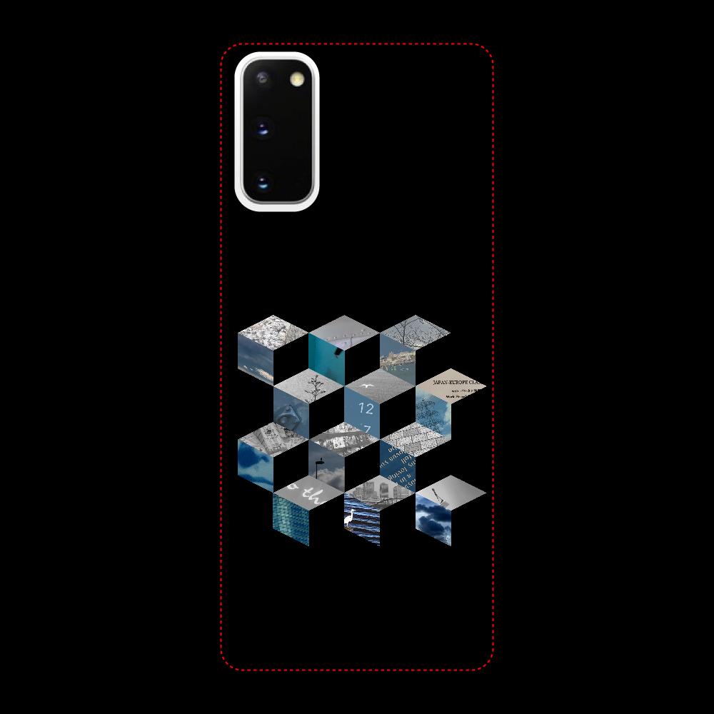 「キューブ コラージュ」スマホケース Galaxy S20 5G 用 ハードケース
