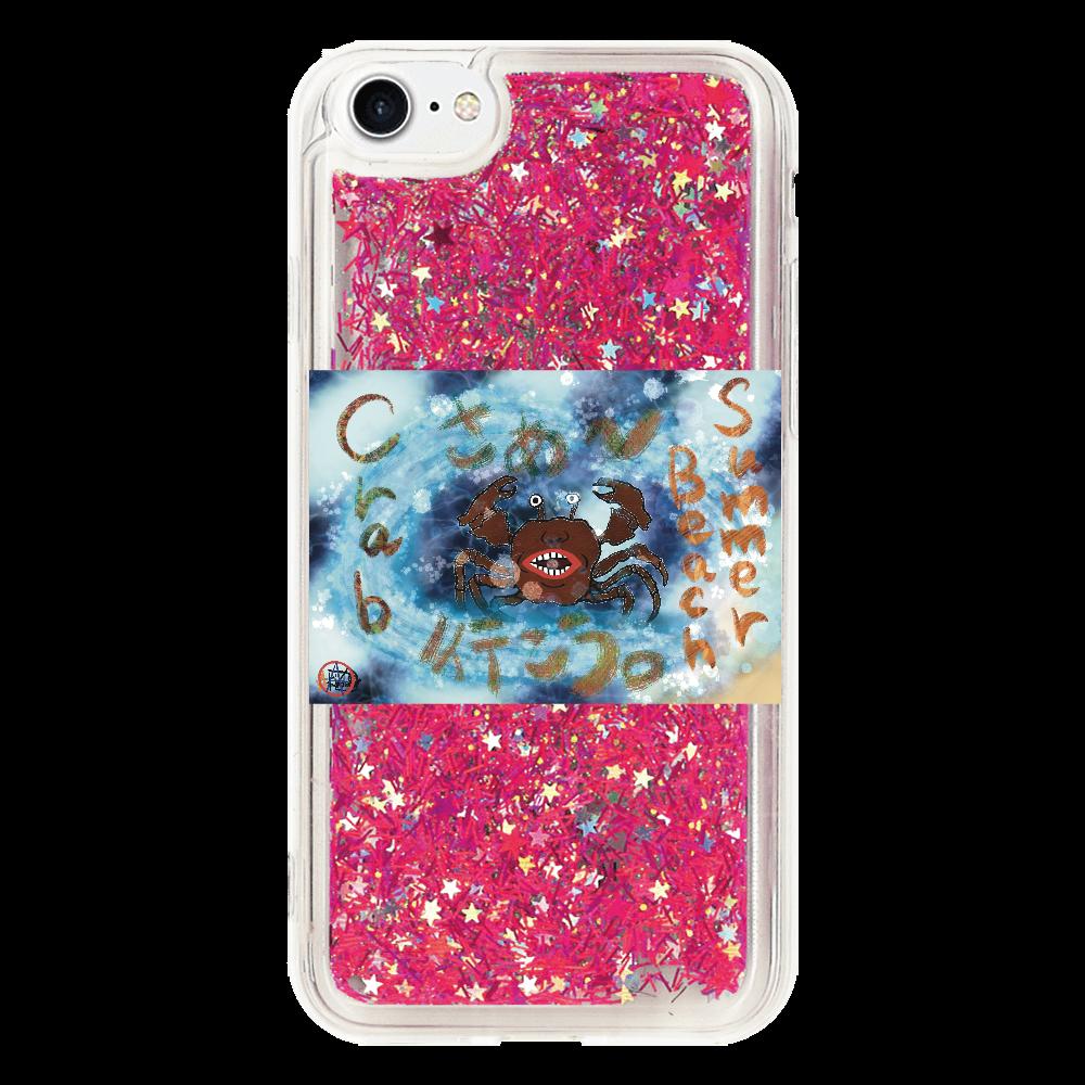 夏のビーチ「カニ」 ORILAB MARKET.Version.8 iPhone8_グリッターケース