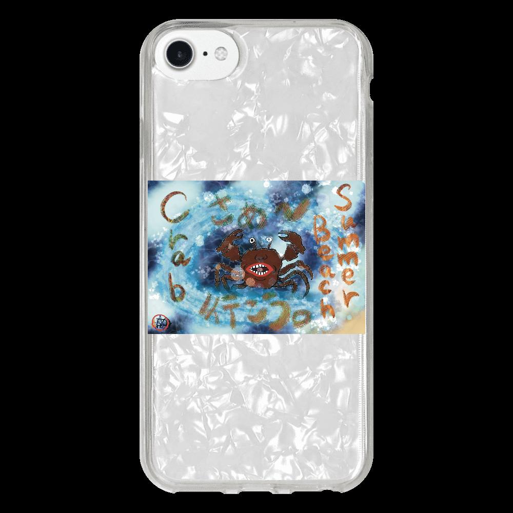 夏のビーチ「カニ」 ORILAB MARKET.Version.8 iPhone 8シェルデザインケース