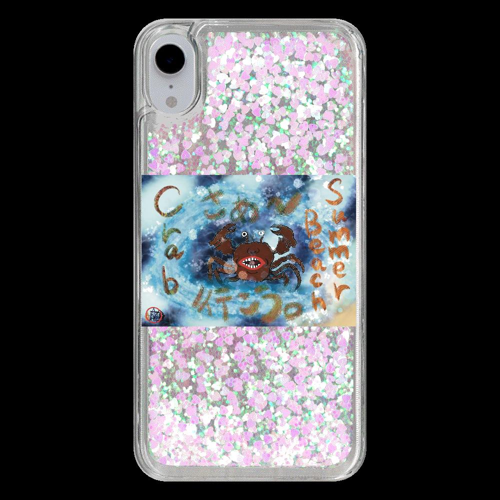 夏のビーチ「カニ」 ORILAB MARKET.Version.8 iPhone XRトキメキハートケース