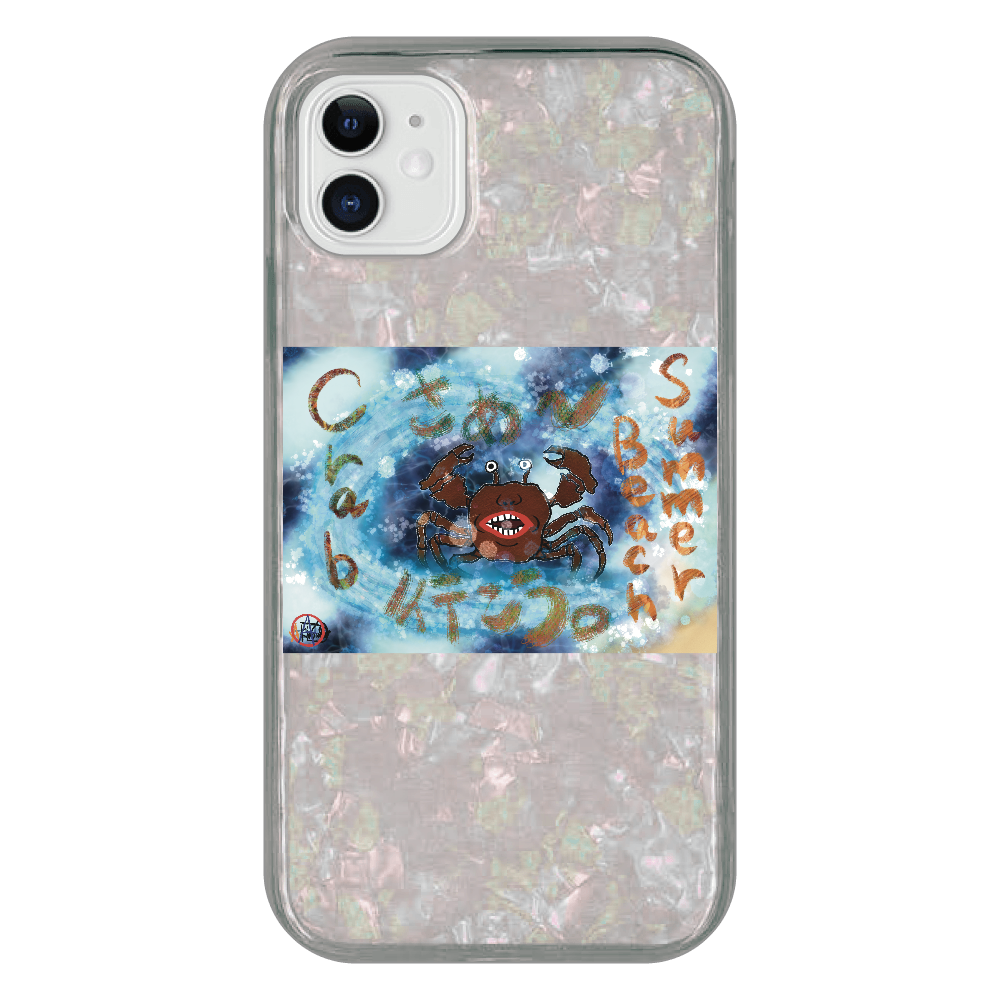 夏のビーチ「カニ」 ORILAB MARKET.Version.8 iPhone 11 シェルデザインケース