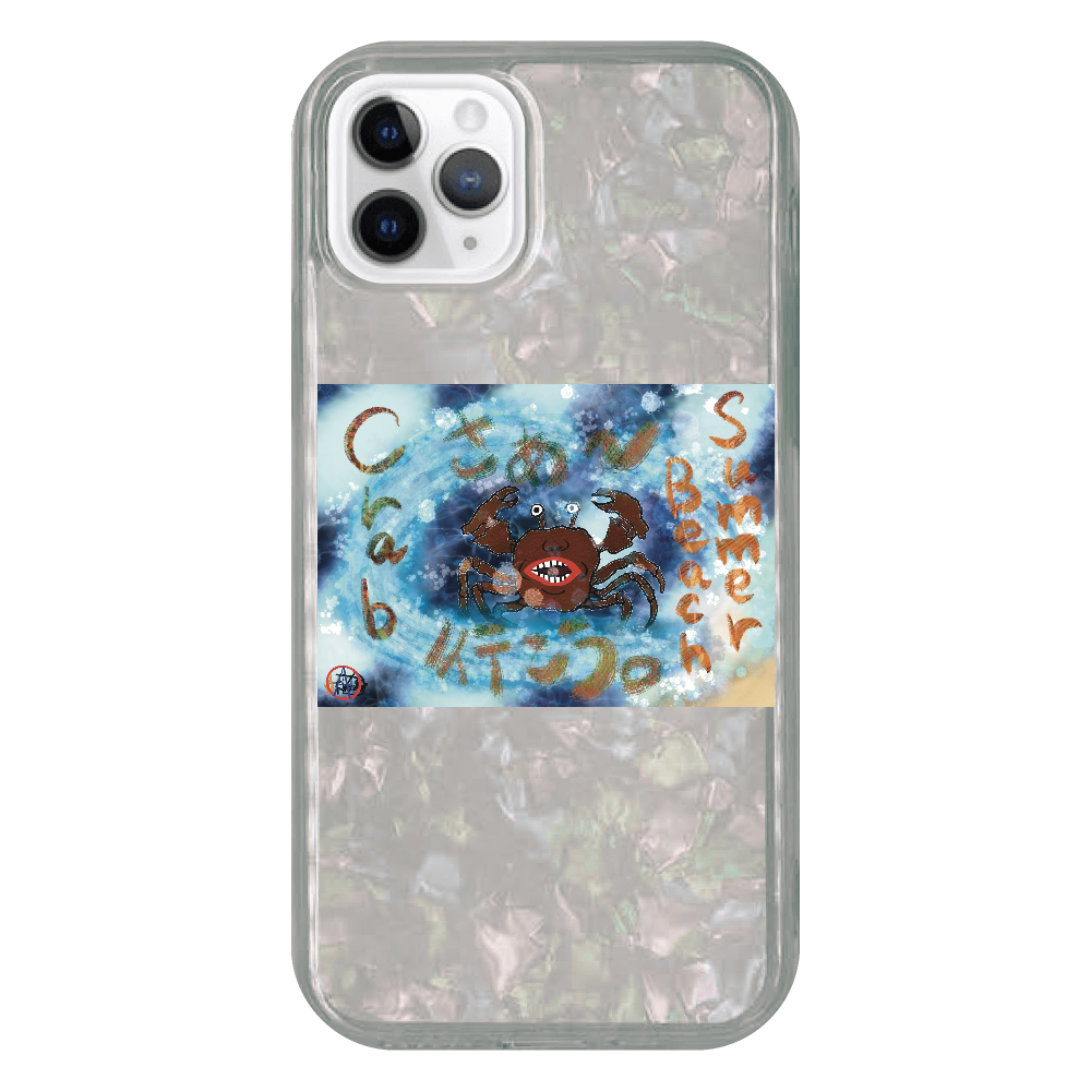 夏のビーチ「カニ」 ORILAB MARKET.Version.8 iPhone 11 Proシェルデザインケース