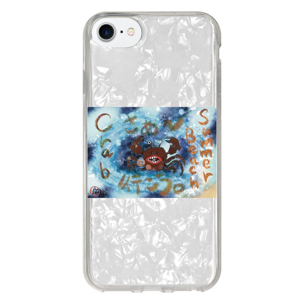 夏のビーチ「カニ」 ORILAB MARKET.Version.8 iPhoneSE2 シェルデザインケース