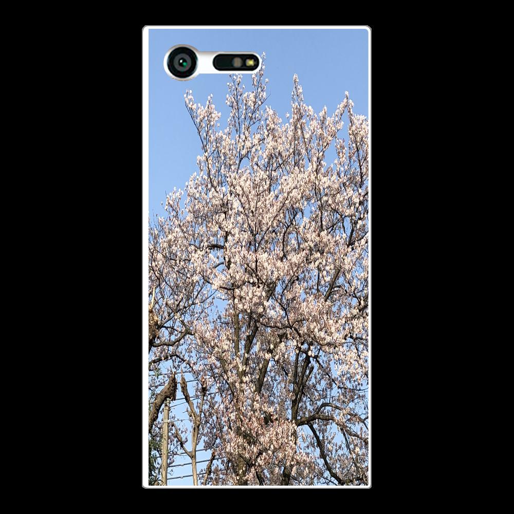 3年前に撮影した桜 スマホケース Xperia X Compact (SO-02J)