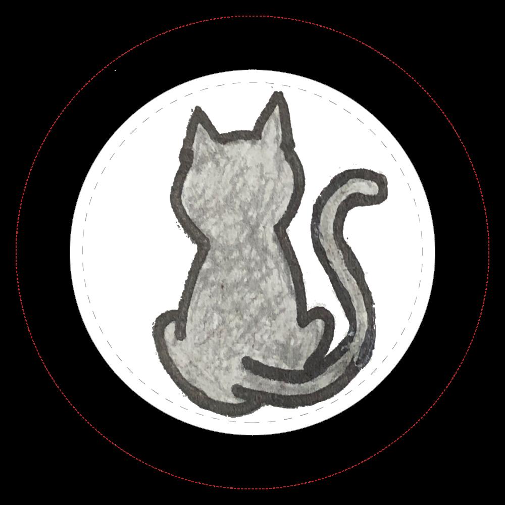 黒ネコ缶バッチ  44㎜缶バッジ
