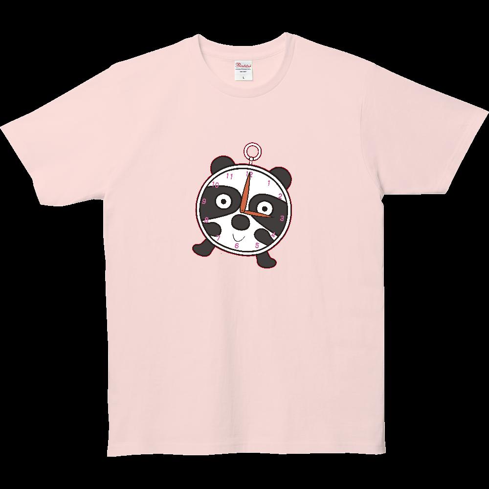パンダTシャツシリーズ、めざまし時計パンダ 5.0オンス ベーシックTシャツ(キッズ)