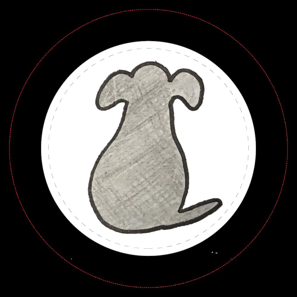 タレ耳犬缶バッチ  44㎜缶バッジ