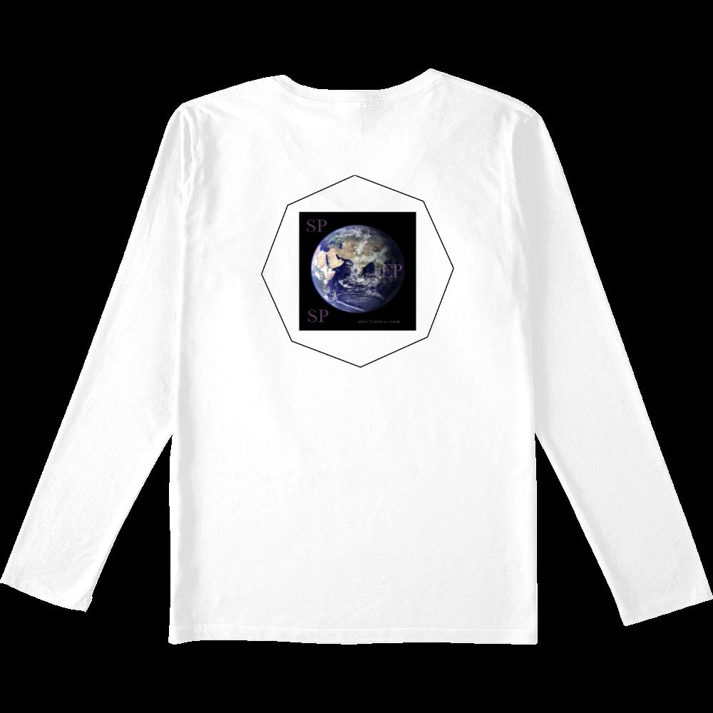 ESP VネックロングスリーブTシャツ 白 スリムフィット VネックロングスリーブTシャツ
