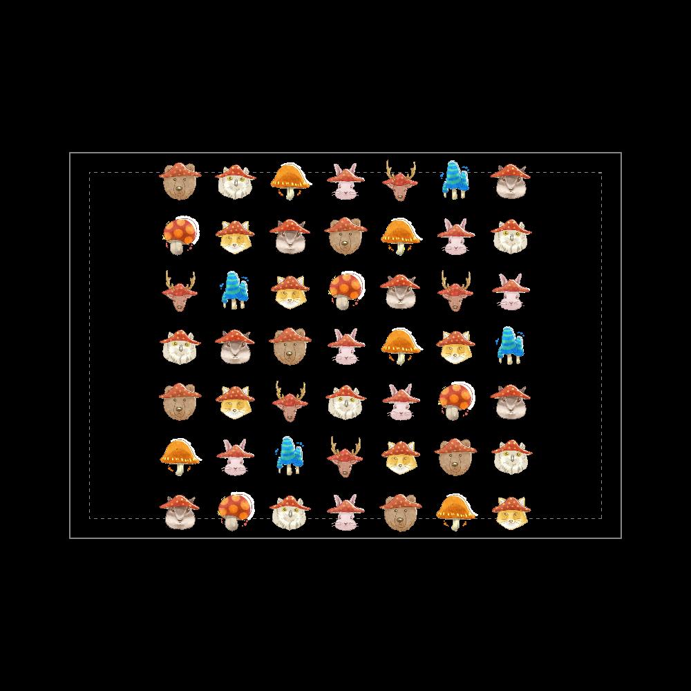 きのこと動物 ブランケット - 700 x 1000 (mm) - ポリエステル