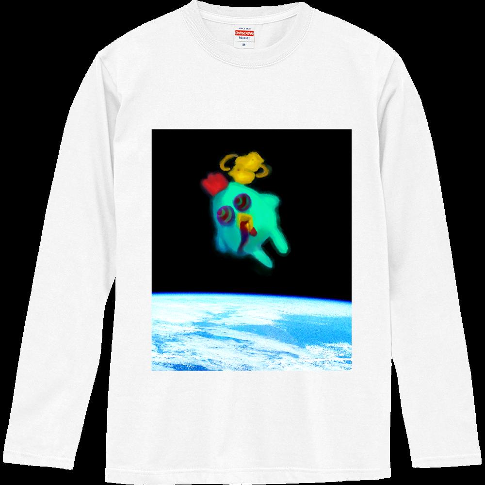 宇宙トリップにわとり ロングスリーブTシャツ