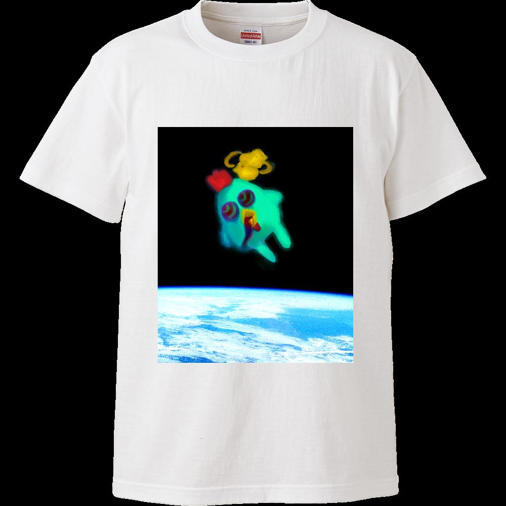 宇宙トリップにわとり ハイクオリティーTシャツ