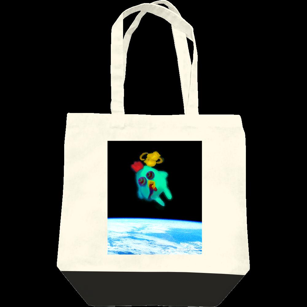 宇宙トリップにわとり レギュラーキャンバストートバッグ(M)