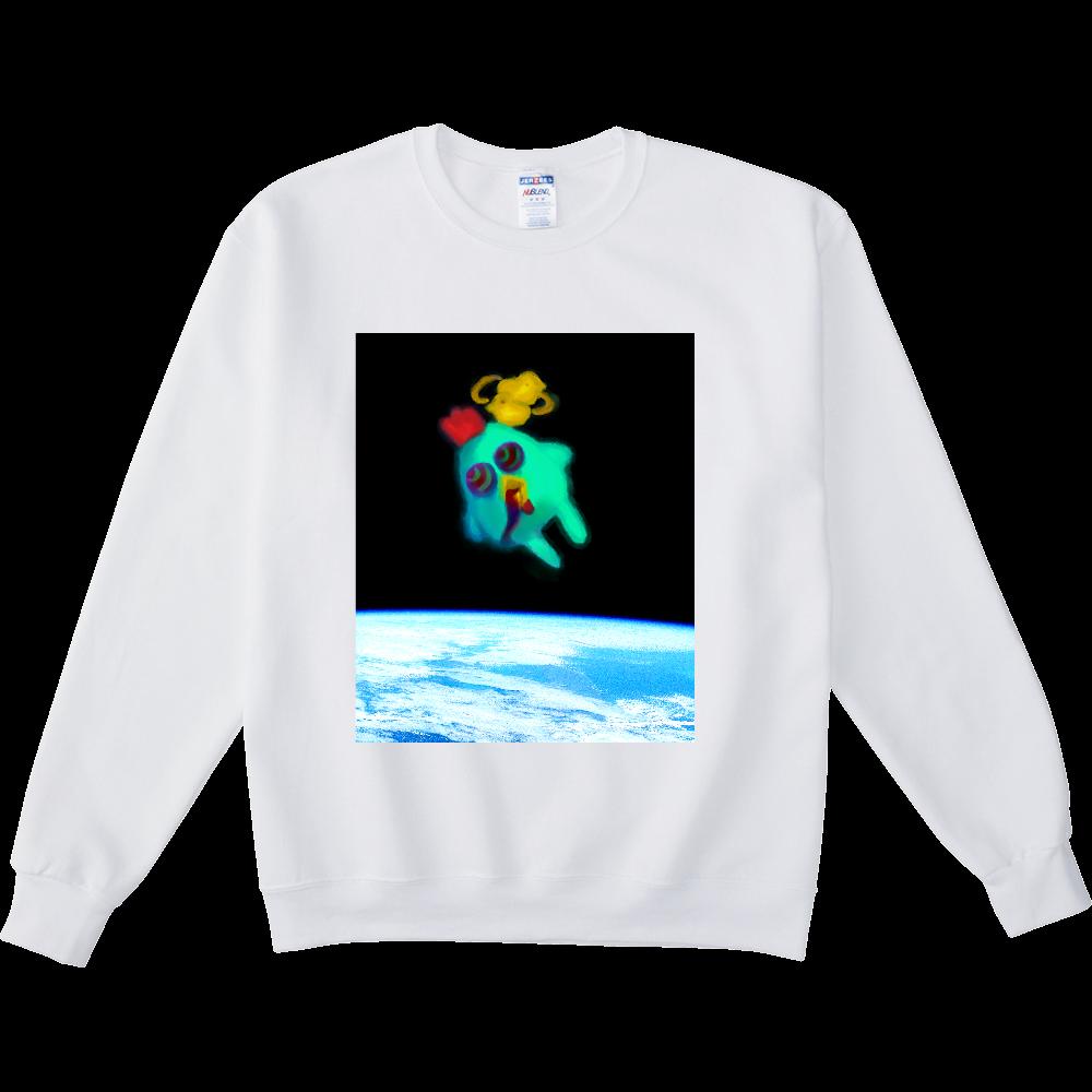 宇宙トリップにわとり NUBLENDスウェットシャツ