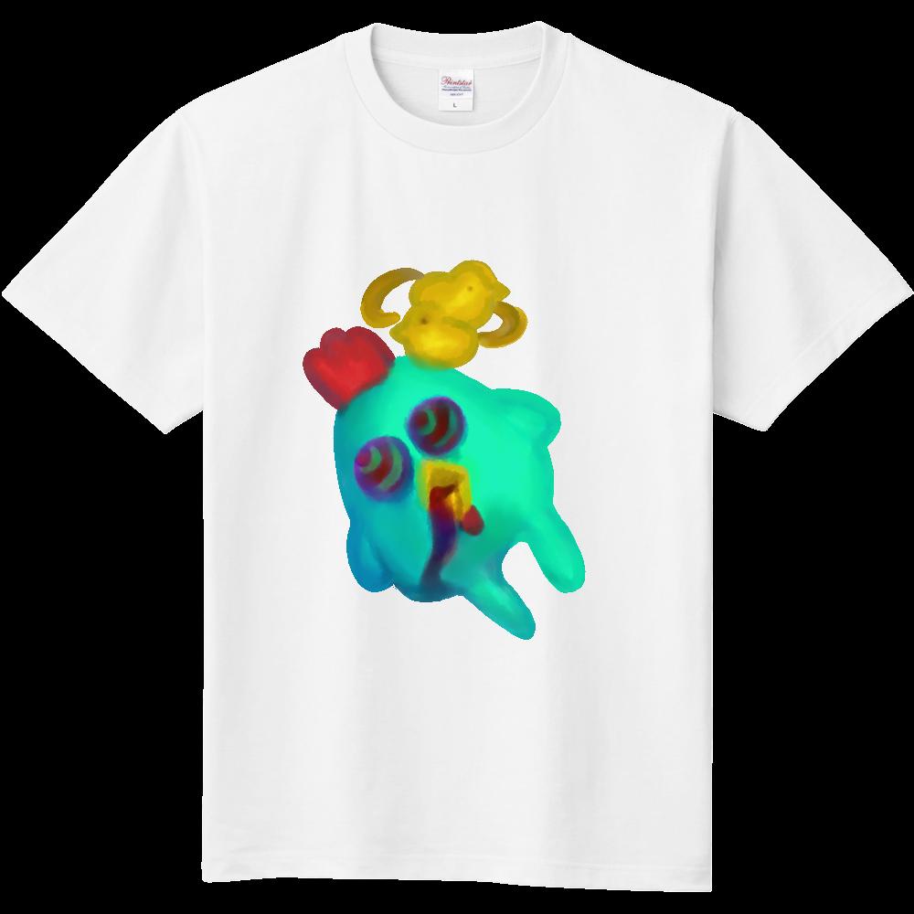 宇宙までは飛びたくないver.にわとり 定番Tシャツ