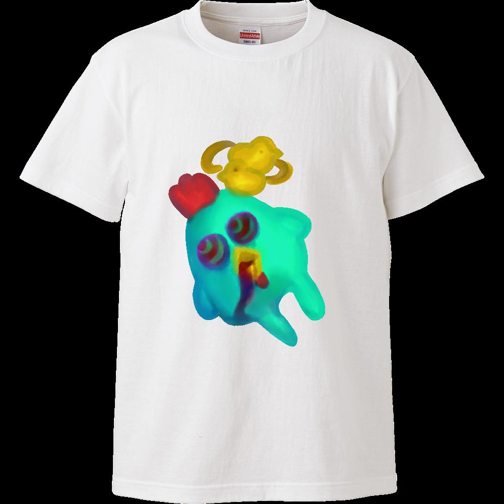 宇宙までは飛びたくないver.にわとり ハイクオリティーTシャツ