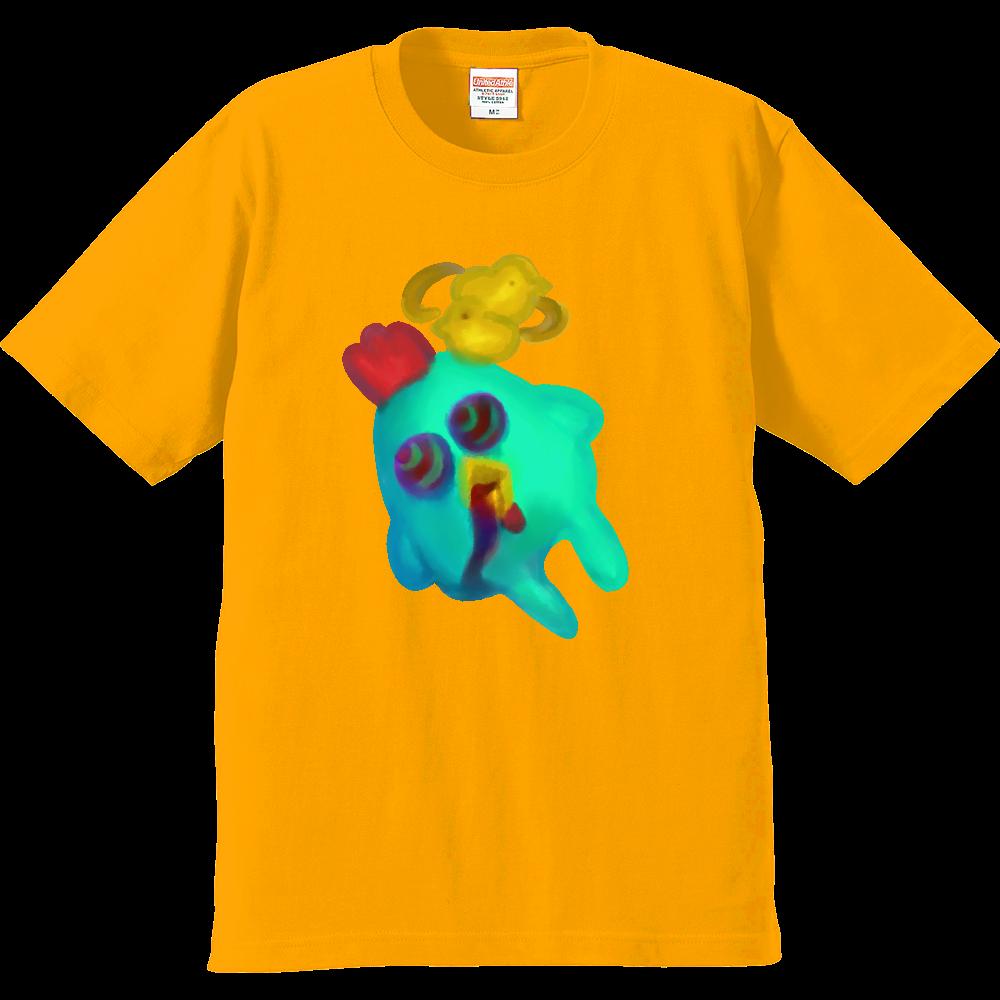 宇宙までは飛びたくないver.にわとり プレミアムTシャツ