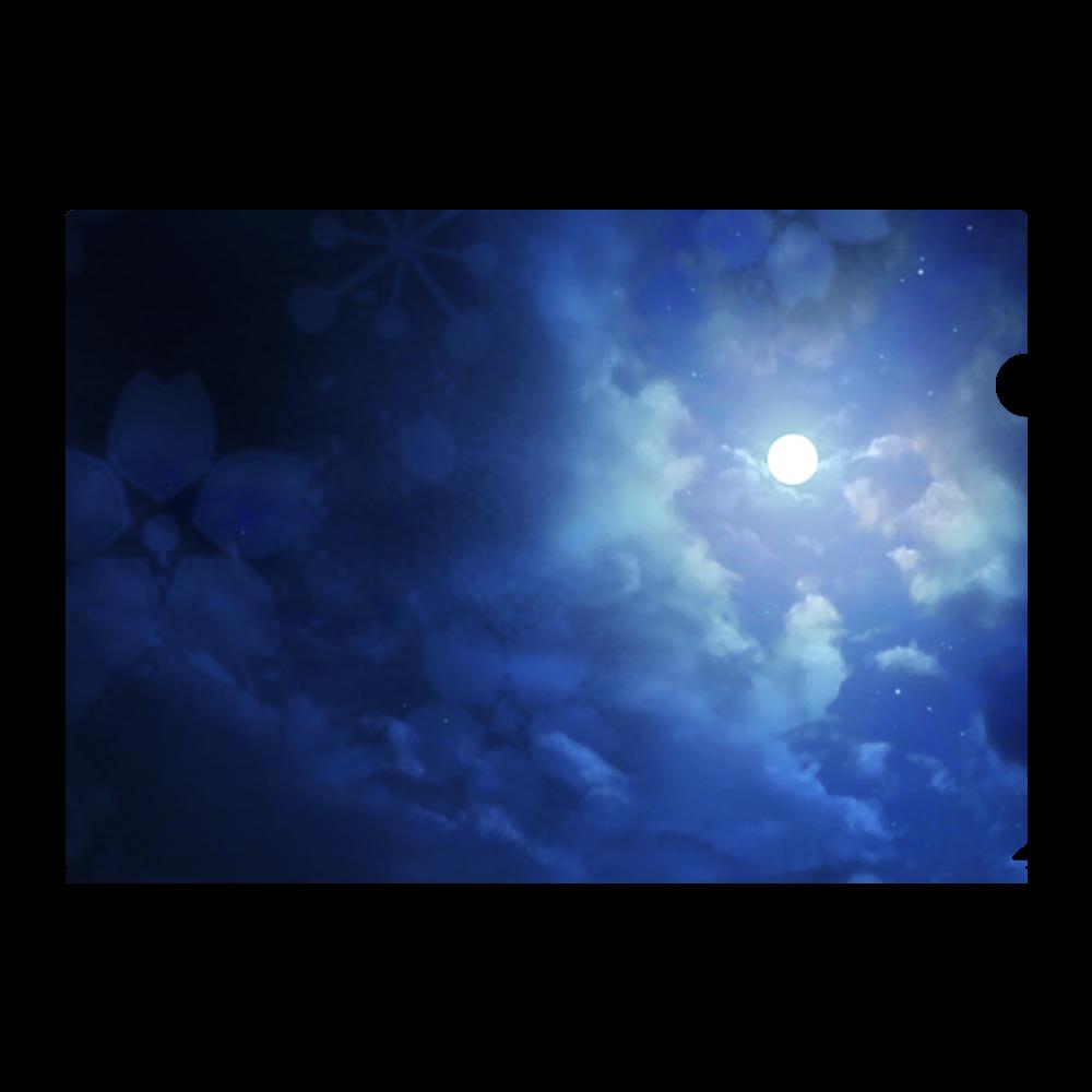 満月の夜  クリアファイル A4フルグラフィッククリアファイル