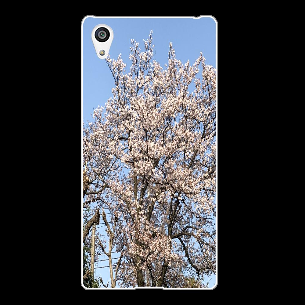3年前に撮影した桜 スマホケース Xperia Z5(SO-01H/SOV32/501SO)