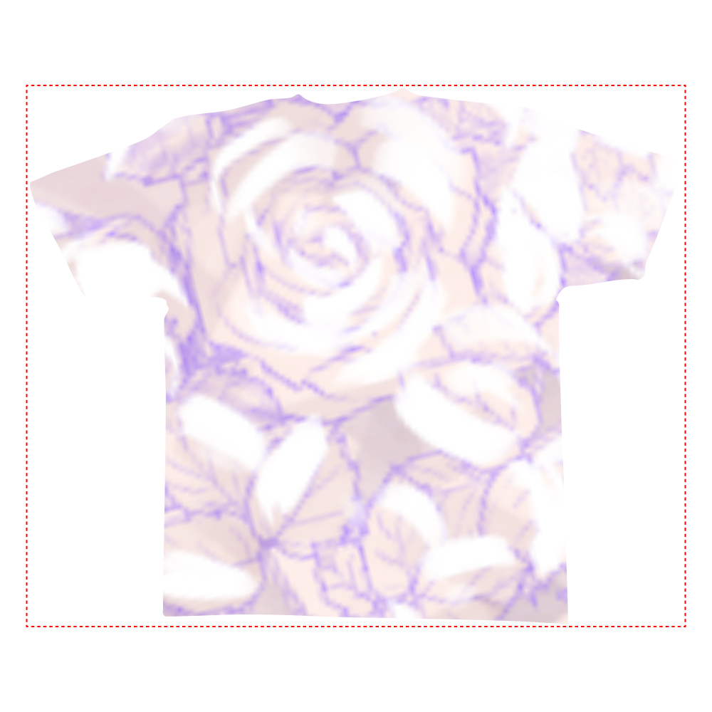 白薔薇 全面インクジェットTシャツ(L)