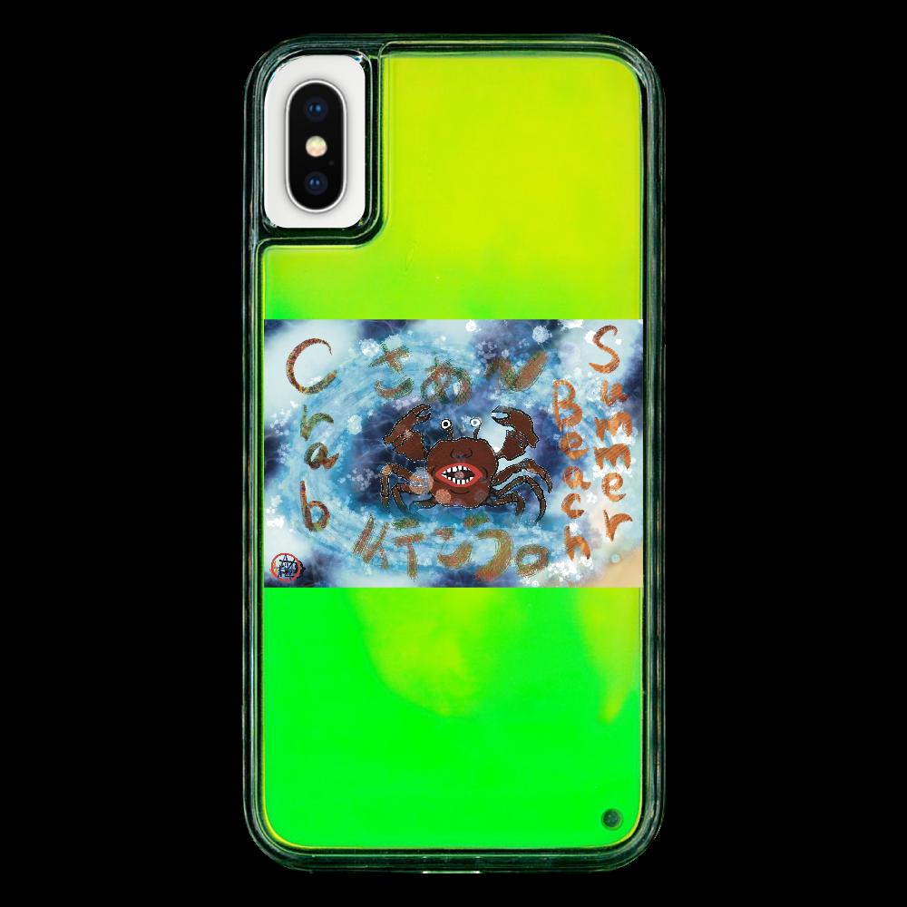 夏のビーチ「カニ」 ORILAB MARKET.Version.9 iPhoneX/XS ネオンサンドケース