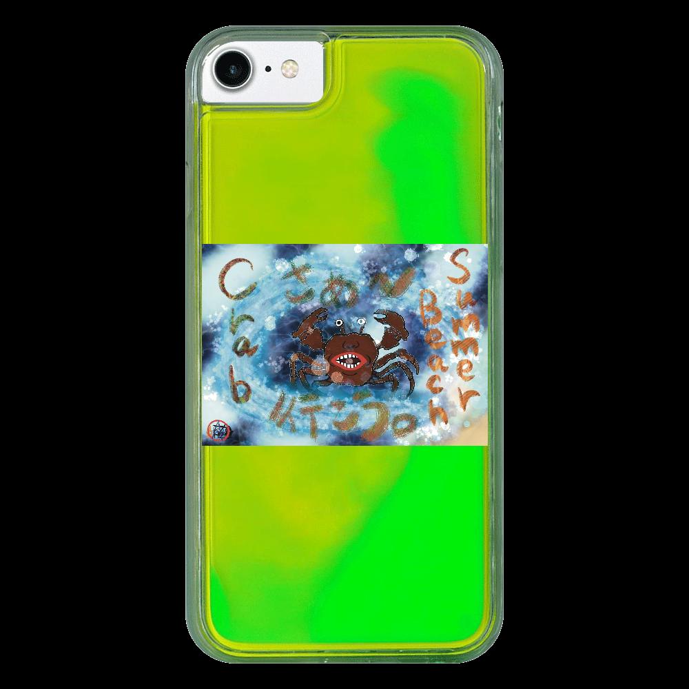 夏のビーチ「カニ」 ORILAB MARKET.Version.9 iPhone8 ネオンサンドケース