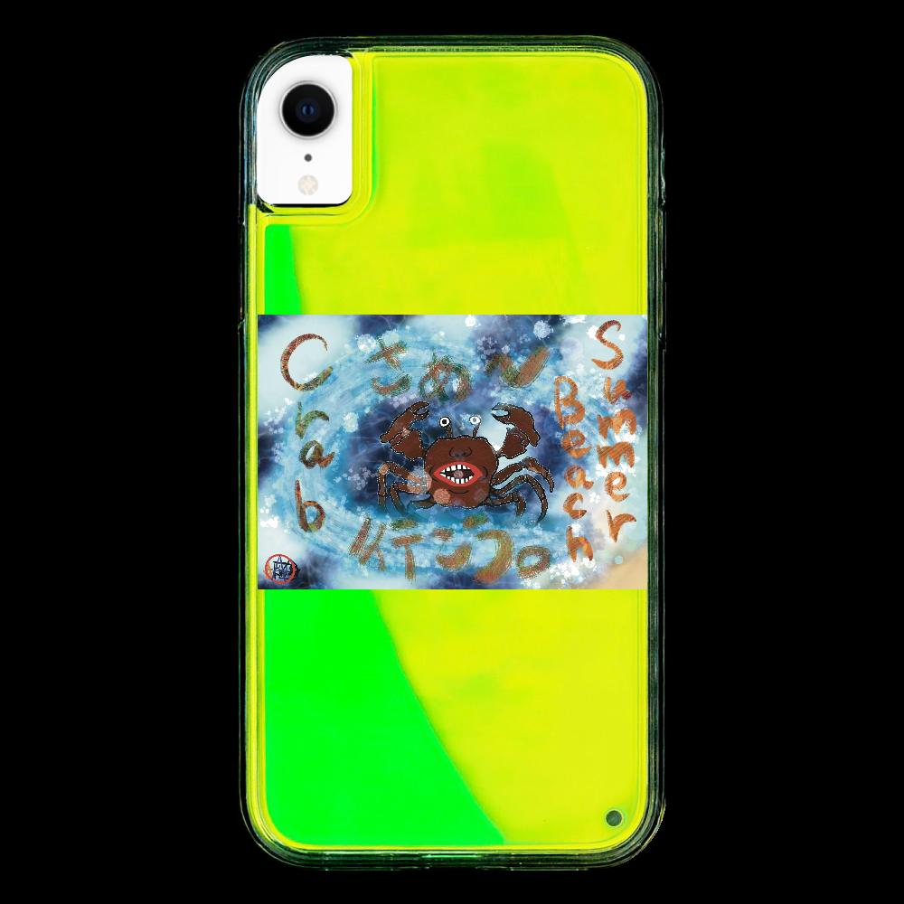 夏のビーチ「カニ」 ORILAB MARKET.Version.9 iPhoneXR ネオンサンドケース