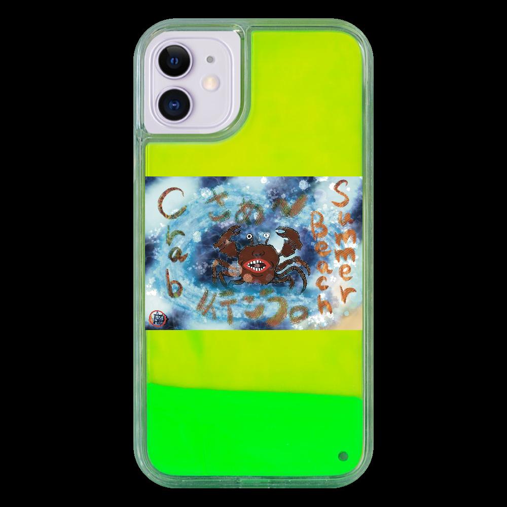 夏のビーチ「カニ」 ORILAB MARKET.Version.9 iPhone11 ネオンサンドケース