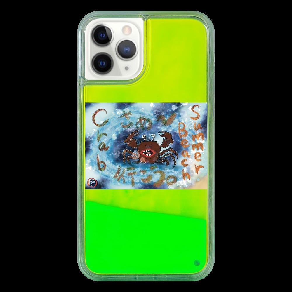 夏のビーチ「カニ」 ORILAB MARKET.Version.9 iPhone11 Pro ネオンサンドケース