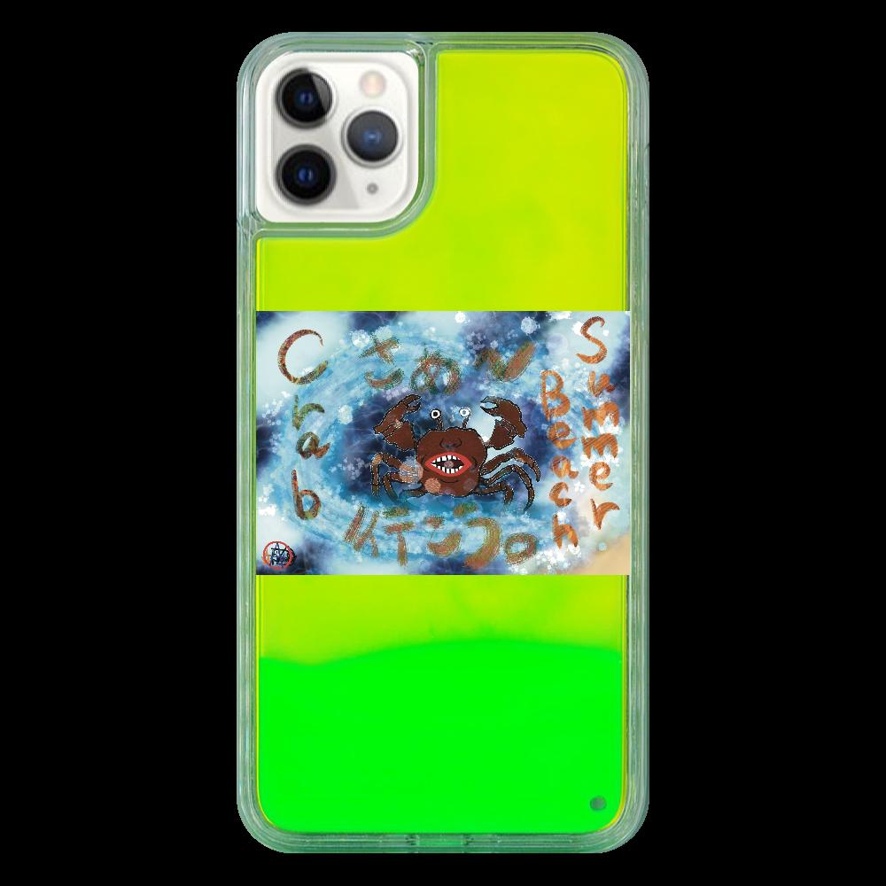 夏のビーチ「カニ」 ORILAB MARKET.Version.9 iPhone11 ProMax ネオンサンドケース