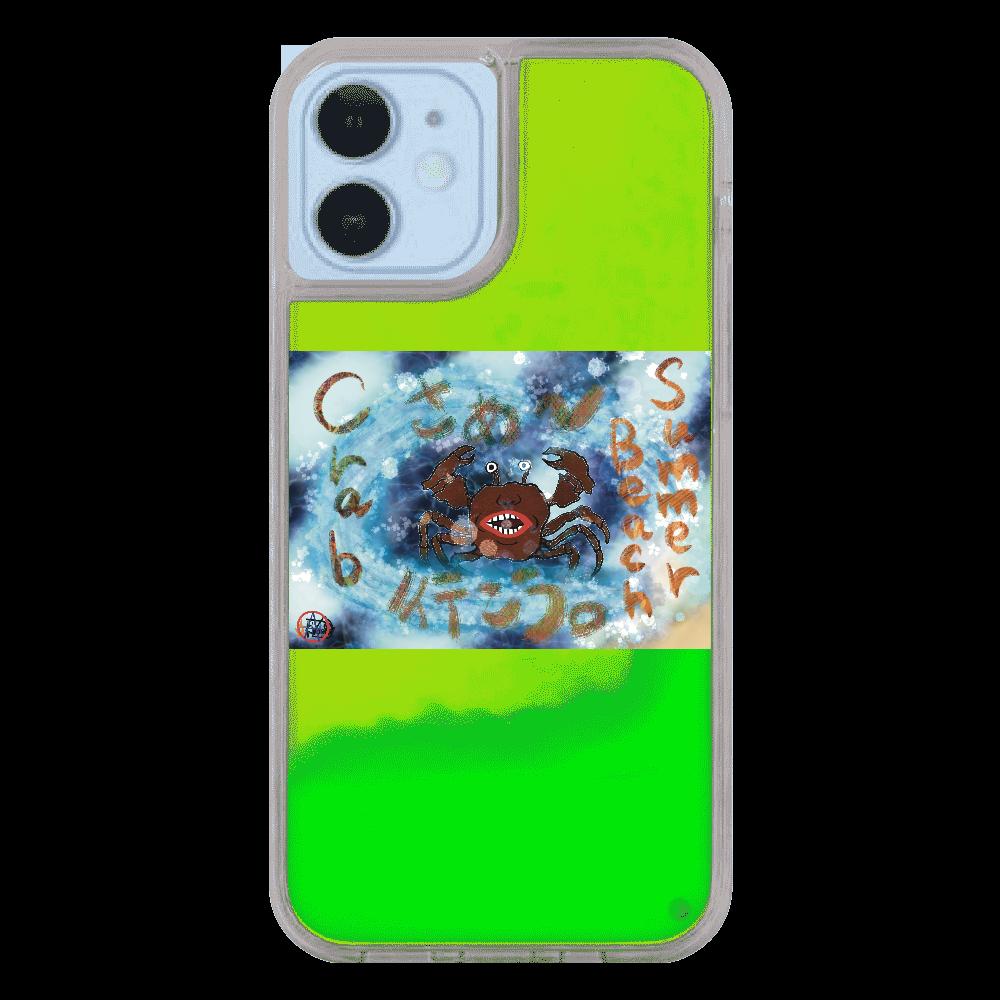 夏のビーチ「カニ」 ORILAB MARKET.Version.9 iPhone12/12pro ネオンサンドケース