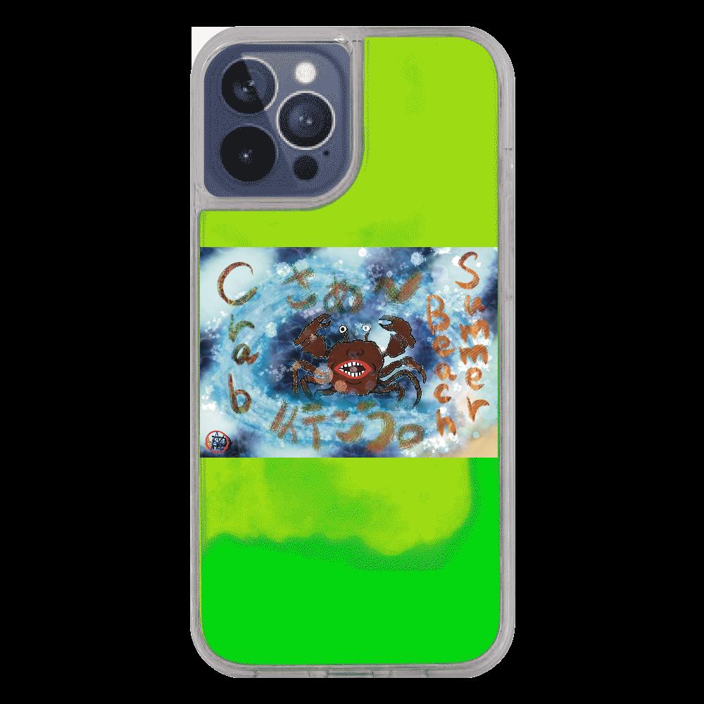 夏のビーチ「カニ」 ORILAB MARKET.Version.9 iPhone12pro max ネオンサンドケース