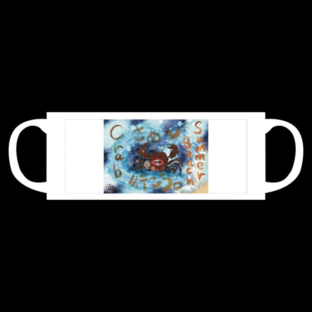 夏のビーチ「カニ」 ORILAB MARKET.Version.10 母の日マグカップ(メッセージ入り)