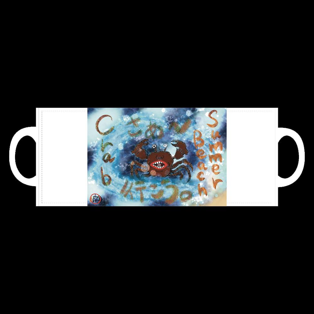 夏のビーチ「カニ」 ORILAB MARKET.Version.10 全面印刷マグカップ