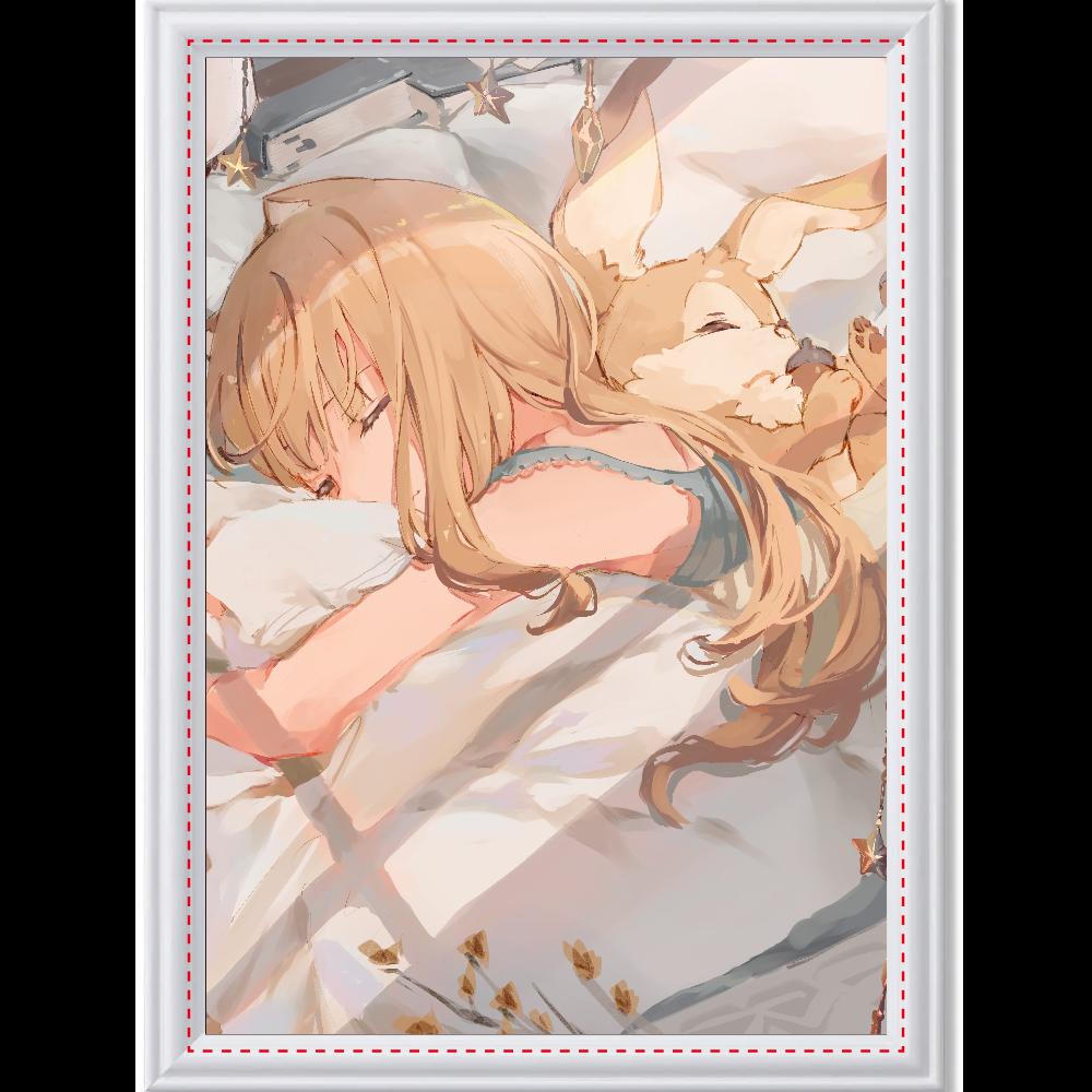 おやすみアートパネル アートデザインパネル (A4 光沢紙)
