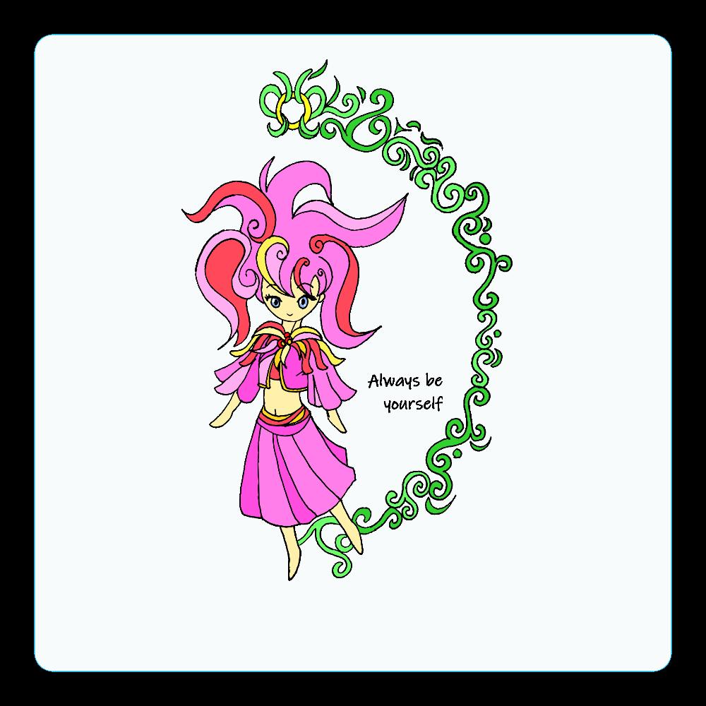 妖精001 アクリルコースター(四角)