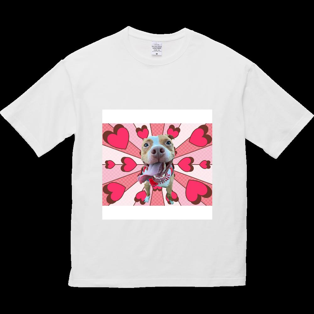 らぶり〜ピットブル♡ 5.6オンス ビッグシルエット Tシャツ