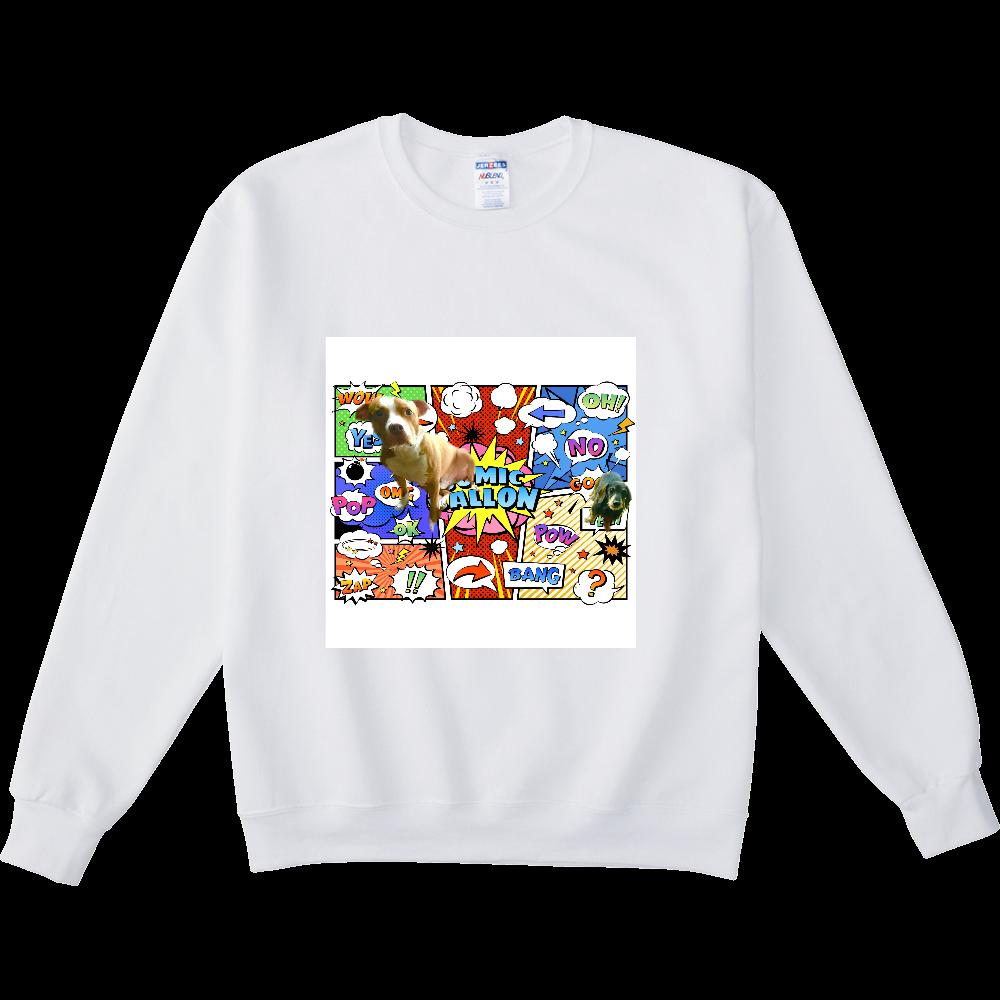 ピットブルとミニチュアダックス♡ NUBLENDスウェットシャツ