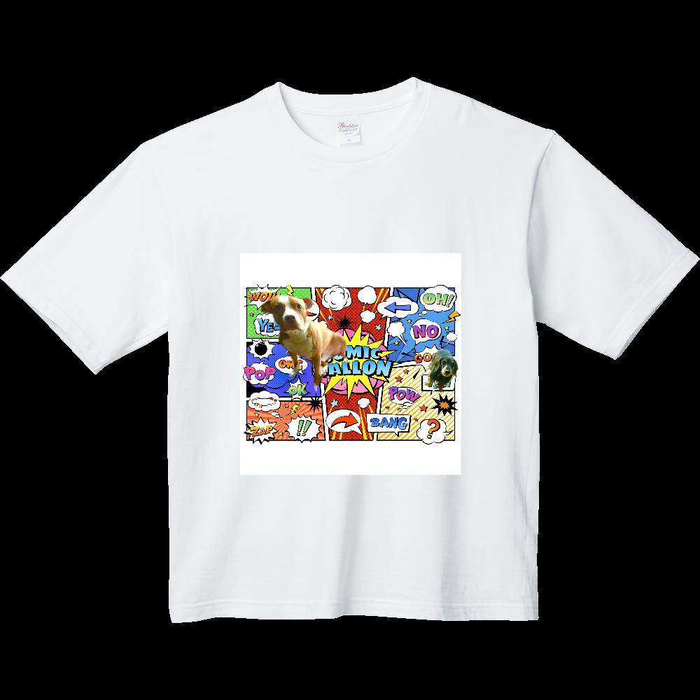 ピットブルとミニチュアダックス♡ ヘビーウェイト ビッグシルエットTシャツ