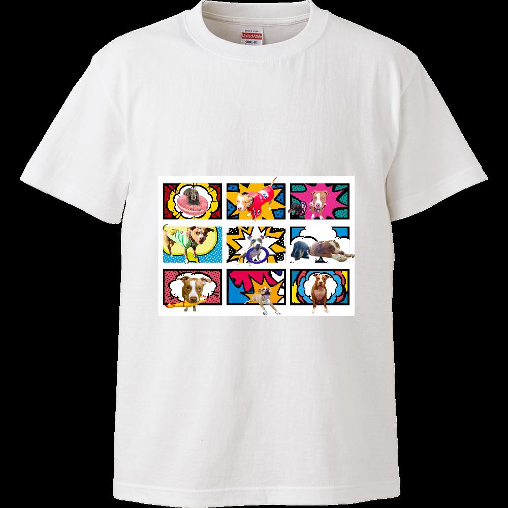 ミニチュアダックスとピットブル☆ ハイクオリティーTシャツ