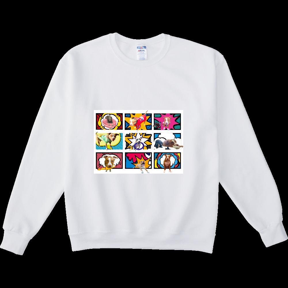 ミニチュアダックスとピットブル☆ NUBLENDスウェットシャツ