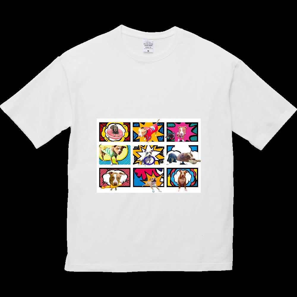 ミニチュアダックスとピットブル☆ 5.6オンス ビッグシルエット Tシャツ