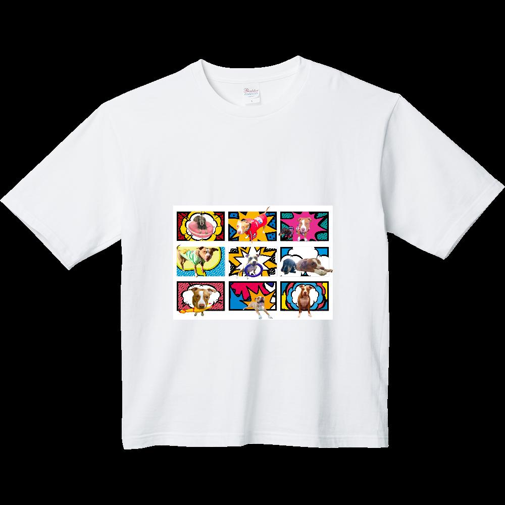 ミニチュアダックスとピットブル☆ ヘビーウェイト ビッグシルエットTシャツ