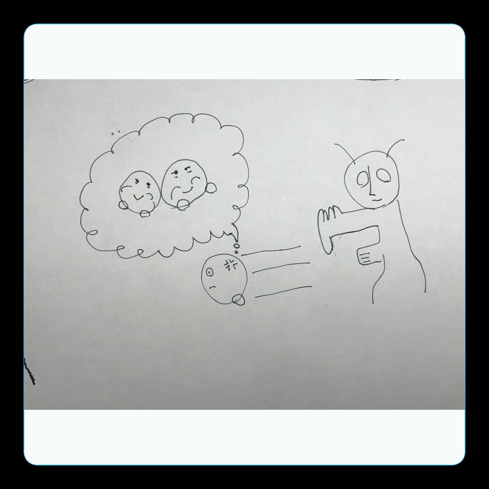 カタキじゃー! アクリルコースター(四角)